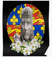 Richard III White Rose Plantagenet Coat of Arms Poster