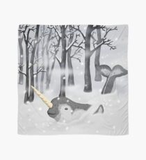 Unusual Unicorn in the Winter Forest Scarf