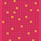 Small Pebbles: mid-century modern in Indian reds and curry yellow by mapmapart