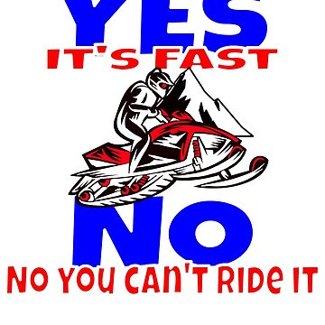 Snowmobile - Yes it's Fast No You can't Ride It by starider