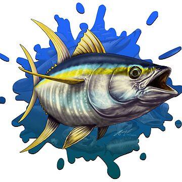 Yellowfin Tuna Many Fish Splash by wrapgraphics