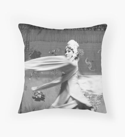 Chinese Opera in Action Throw Pillow