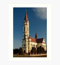 Tschenec Church Art Print