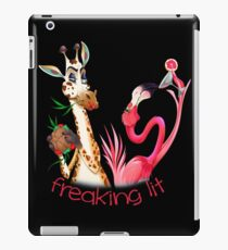 Party Time Freaking Lit Giraffe and Flamingo  iPad Case/Skin