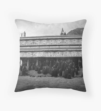 Monks of Labrang Throw Pillow