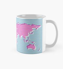 Moderne Karte der Welt Tasse (Standard)