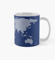 Moderne Weltkarte Tasse (Standard)