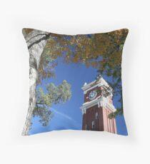 Bryan Clock Tower In Fall On The WSU Campus - Pullman, Washington Throw Pillow