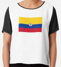 Naval Ensign of Colombia  Chiffon Top