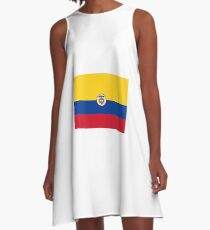 Naval Ensign of Colombia  A-Line Dress