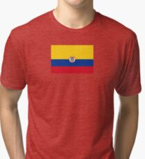 Naval Ensign of Colombia  Tri-blend T-Shirt