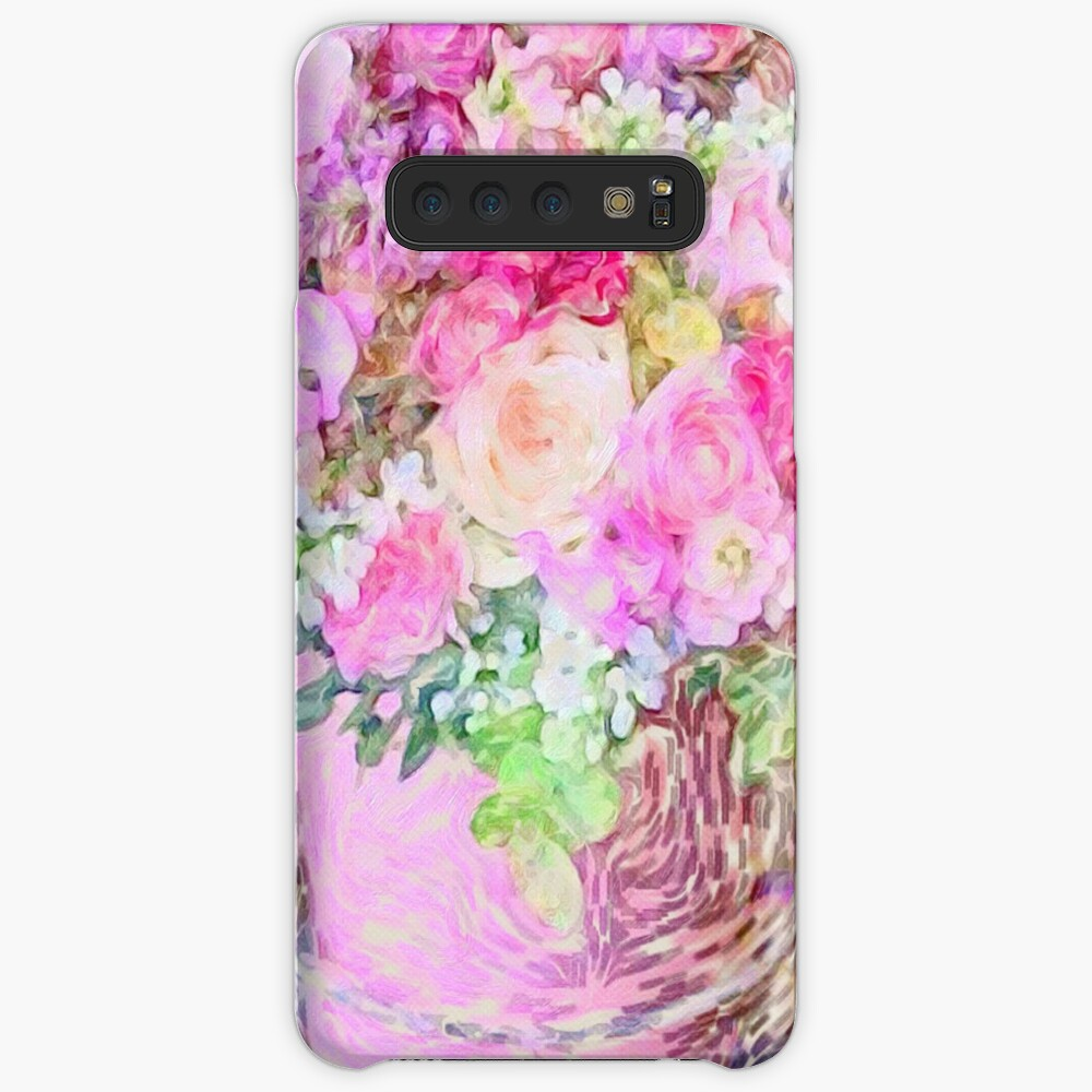 shabby chic painted, peonies, roses,shabby chic, painted, roses, floral,flowers,vintage,victorian,belle epoque,girly,soft,feminine,modern,trendy Case & Skin for Samsung Galaxy