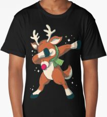 Reindeer Dabbing Dance Long T-Shirt