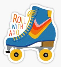 Roll with AXO (letters) Sticker