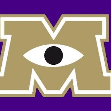 JMU / Monsters University Parody Logo - Gold and Purple by obiwayne