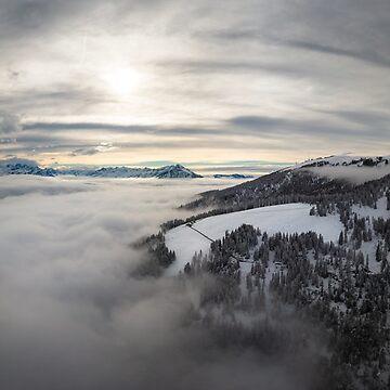 Winter cloud inversion, Beatenberg, Switzerland by mhowellsmead