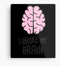 Funny Head Injury Concussion Get Well  Gift Metal Print