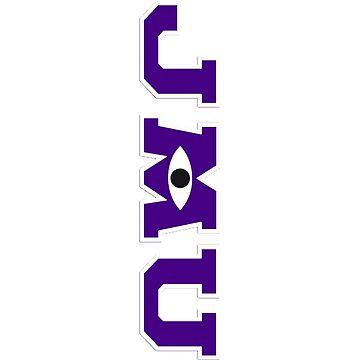 JMU / Monsters University Parody Logo - Vertical - Purple by obiwayne