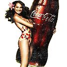 Vintage Pinup with pop bottle by Tasty Clothing