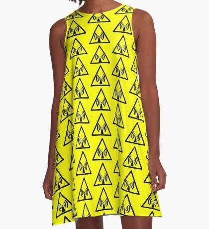 Warning Radio Frequency A-Line Dress