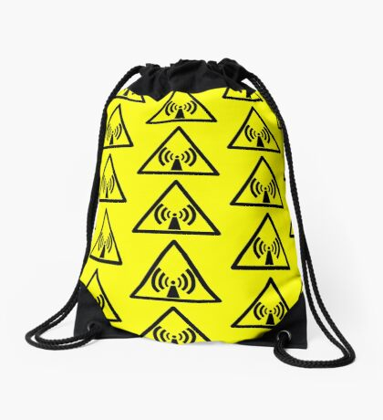 Warning Radio Frequency Drawstring Bag