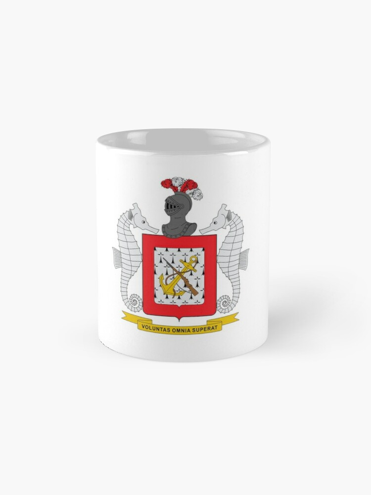 Alternate view of Coat of Arms of Colombian Naval Infantry Mugs