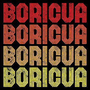 Vintage Puerto Rico Shirt Boricua Gift by inkedtee