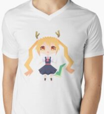 Tohru Geometric Dragon Maid Men's V-Neck T-Shirt