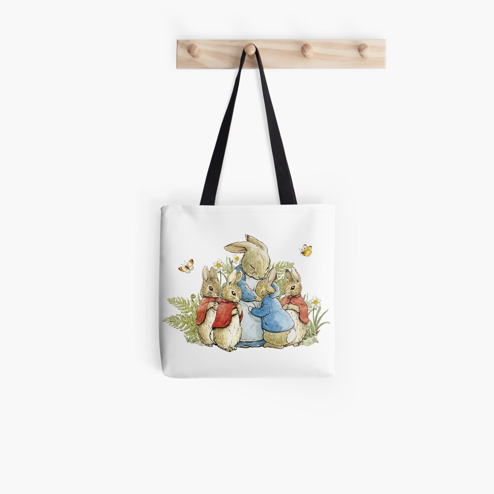 Peter Rabbit With His Family - Beatrix Potter Tote Bag