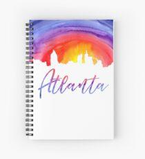 Atlanta Cityscape - Reverse Silhouette Spiral Notebook
