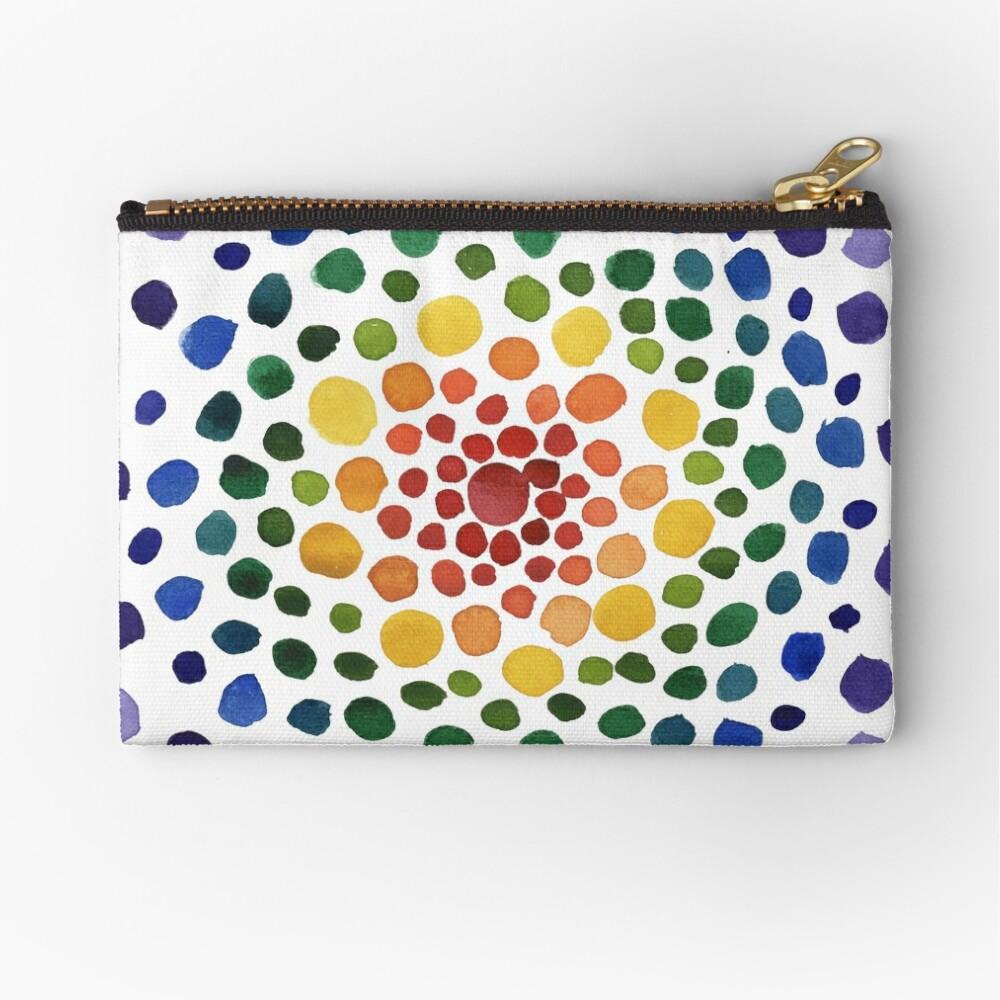 Circle Mosaic - Rainbow Zipper Pouch