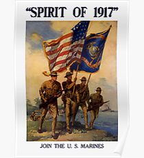 Join The US Marines -- Spirit Of 1917 Poster