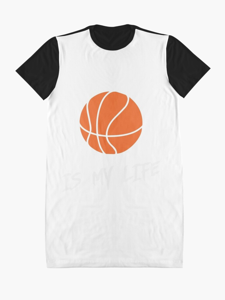 Alternate view of basketball is my life Graphic T-Shirt Dress