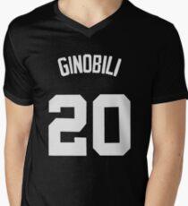 Manu Ginobili - San Antonio Spurs T-Shirt mit V-Ausschnitt für Männer