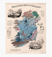 Vintage Geological Map of Ireland (1850) Photographic Print