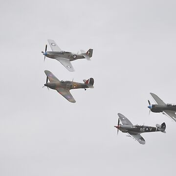 2018 Temora Airshow-WW2 Fighter Formation by muz2142