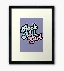 Rock n' Roll Girl Framed Print