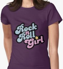 Rock n' Roll Girl Women's Fitted T-Shirt