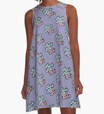 Rock'n'Roll-Mädchen A-Linien Kleid