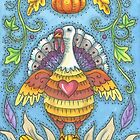 SHADES OF THANKSGIVING.  I enjoyed creating this colorful Thanksgiving Turkey.  Rich vivid Autumn Colors. by Susan Brack