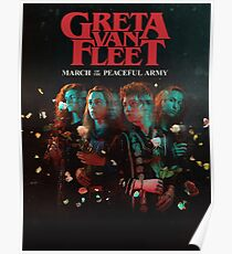 This is new Greta poster summer Van Fleet march of the peaceful army cover album top salling Poster