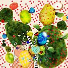 That´s how its got to be - Rupydetequila 2018 - Cactus nopal green and red polka dots by rupydetequila