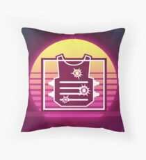 Rook Synthwave Rainbow Six Siege Throw Pillow