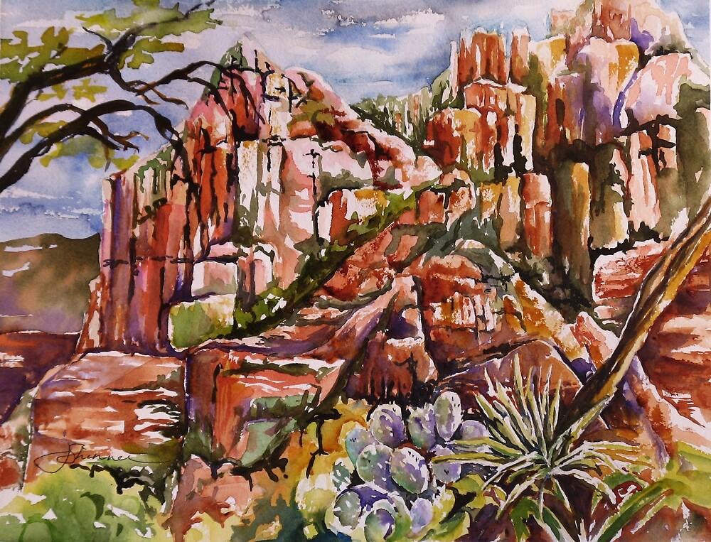 Schnebly Hill - Sedona AZ by Joy Skinner