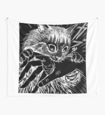 Cat Junji Ito Bite Wall Tapestry