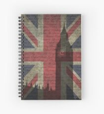 London-Typography Spiral Notebook
