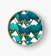 Winter peaks and woods Clock