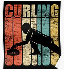 Curling Wettkampf Poster