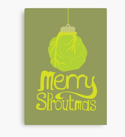 Merry Sproutmas Canvas Print