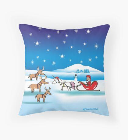 Weihnachts - Einhorn Kissen